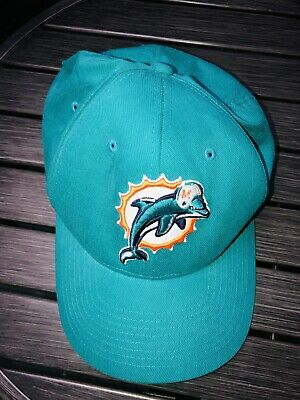 d533cdce9 MIAMI DOLPHINS BASEBALL Hat NFL Adult One Size NEW by Miller Lite ...