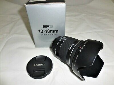 Canon EF-S 10-18mm F/4.5-5.6 IS STM Lens and the lens hood is included.
