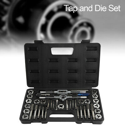 M3-M12 METRIC Tap and Die Set 40 Piece w/Case Tapping Threading Chasing Repair