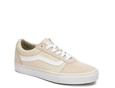Womens Vans Ward Canvas Suede Skate Shoes Sneakers Tan Birch White Off The  Wall 2478e61d7