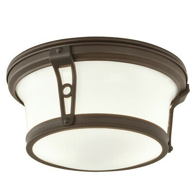 """Norwell Lighting 5383 Leah 2 Light 13"""" Wide Flush Mount Ceiling Fixture with Whi"""
