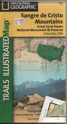 National Geographic Trails Illustrated Map 138 Colorado Sangre de Cristo Mtns.