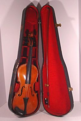 Estate Fresh! JACOBUS STAINER Copy Made In Germany 4/4 VIOLIN with COFFIN CASE