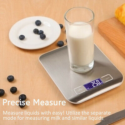 10kg/1g Stainless Steel LCD Digital Kitchen Multifunctional Food Weighing Scale