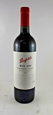 Penfolds Bin 389 Cabernet Shiraz 2003, The Baby Grange Mint Condition Bottle