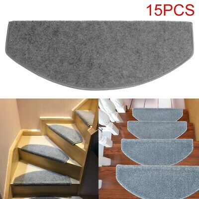 15Pcs Stair Tread Carpet Mats Step Staircase Non Slip Protection Cover Pad