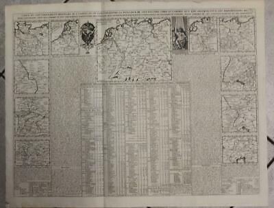Germany Holy Roman Empire Central Europe Large 1719 Chatelain Antique Map