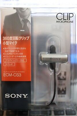 SONY ECM-CS3 Electret Condenser Microphone OFFICIAL Japan AIRMAIL