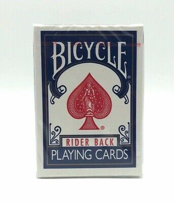 1 Deck of Bicycle Rider Back Blue Playing Cards (BLUE SEAL) OHIO MADE Rare Deck