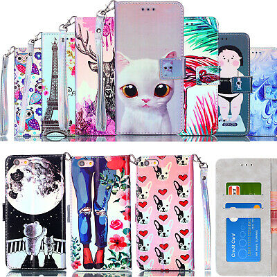 Leather Flip Case Wallet Phone Cover For Samsung Galaxy J7 J5 J3 2017 iPhone 7 6