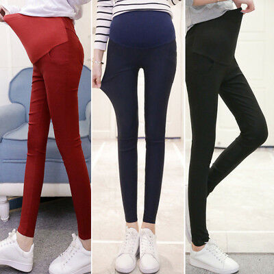 2019 Plus Size Pregnant Women's Casual Winter Warm Thicken Long Pants Trousers
