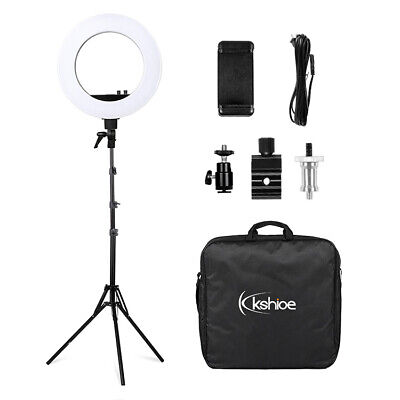 """18"""" LED SMD Ring Light Kit w/ 78"""" Stand Dimmable 5500K for Camera Makeup Phone"""