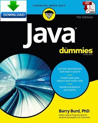 Java for Dummies -  read on PC, PHONE or TABLET - Fast PDF DOWNLOAD
