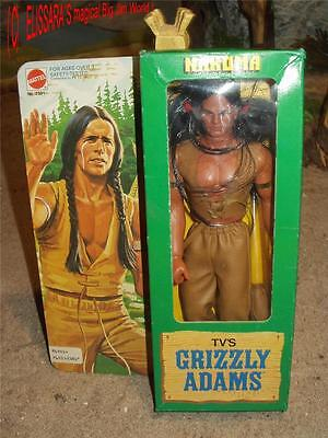 Big Jim - Grizzly Adams  - NAKOMA -  with original box! Mattel Western Karl May
