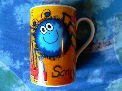 Dunoon Scottish Stoneware Mug By Jane Brookshaw Hairy Scarys Scary Spiders