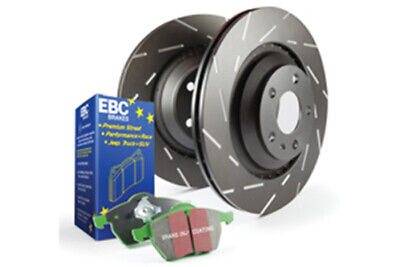 EBC Brakes Greenstuff Pad and USR Slotted Disc Kit [PD06KR127]