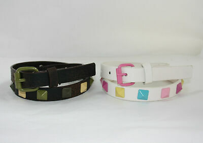 Synthetic Leather children's/kids PYRAMID studded Belt 2 colours + 2 sizes