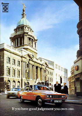 ROVER P6 2200TC 2200 RETRO A3 POSTER PRINT FROM CLASSIC 70's ADVERT