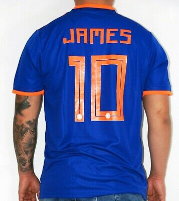 0fe650f89ab Colombia National Team Soccer Away Jersey Camiseta James 10 New S M L Blue