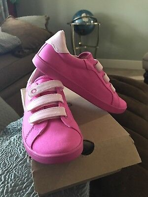 4ac1e45c35b GIRLS UGG SIZE 4 Canvas Sneakers With Velcro Pink new In Box