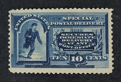 CKStamps: US Special Delivery Stamps Collection Scott#E2 10c Mint HR OG Thin