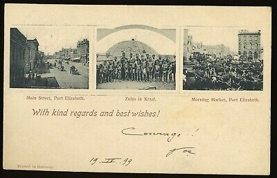 South Africa 1899 Illustrated Postal Stationery Card P. Elisabeth Fine Used.a589