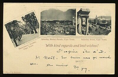 South Africa 1900 Illustrated Postal Stationery Card Cape Town Fine Used. A587