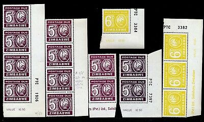 Zimbabwe 1980 Postage Dues Multiples Incl. Varieties.(Shades Etc) Mnh.   A574