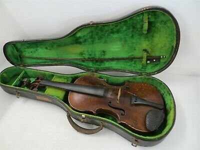 Antique Simon Voigt 4/4 Scale Violin W/Heartwood Bow,Made in 1771+Case