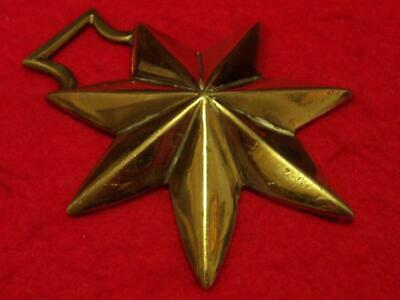 Rare 19th Century Antique Cast Horse Brass of a Seven Pointed Star #A4