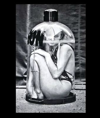 Freak Girl Trapped PHOTO Scary Creepy Weird Odd Circus Act Bottle Crazy Trick