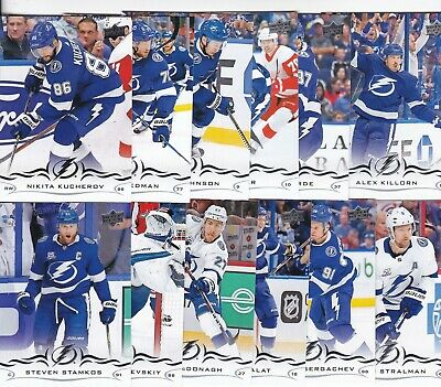 Tampa Bay Lightning 2018-19 18-19 Upper Deck Series 1 & 2 Team Set (13) Point +