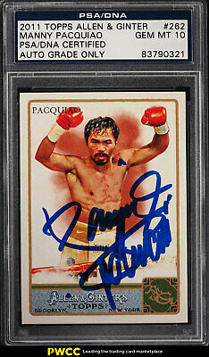 2011 Topps Allen & Ginter Manny Pacquiao AUTO #262 PSA/DNA Auth (PWCC)