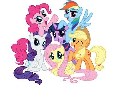"""My Little Pony Iron On Transfer 4.5"""" x 5.25"""" for LIGHT Colored Fabric"""