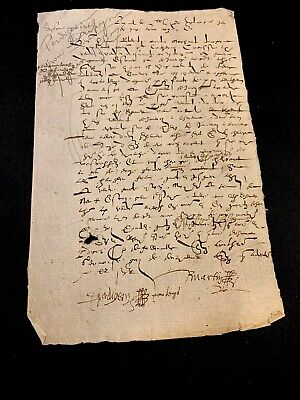 Old Document 1587