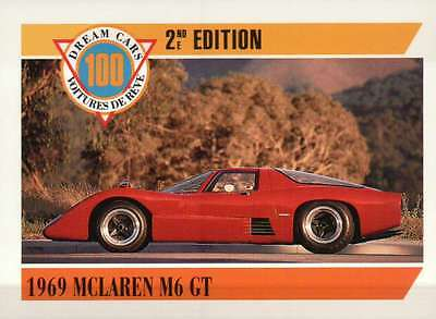 1969 McLaren M6 GT, Dream Cars Trading Card, Road Automobile --- Not Postcard