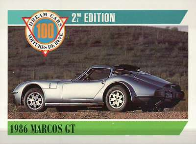 1986 Marcos GT Dream Cars Trading Card, British Sports Automobile - Not Postcard