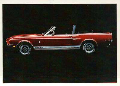 1968 Mustang Shelby, Ford, Dream Cars Trading Card, Automobile - Not Postcard