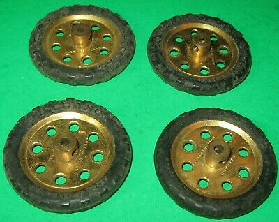 """MECCANO USED PARTS 1-1/2"""" PULLEYS with MOTOR TYRES"""