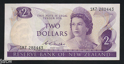 New Zealand  P-164b. (1968-75) Two Dollars..  Wilks..  gEF - aUNC