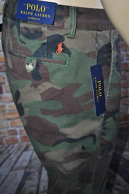 New 32 Lauren Clasic Chino Pants 34 Camo Polo Men Military Fit 38 Cargo Ralph 34ARjL5