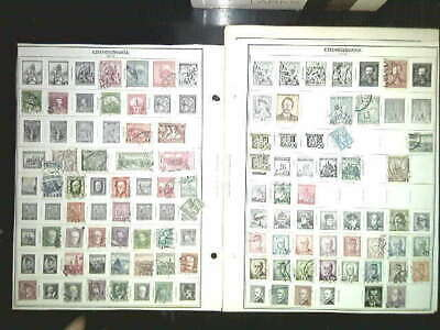 Czechoslavakia Collection On Album Pages, Both Mint An Used