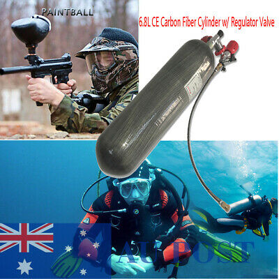 6.8L CE High Pressure 4500Psi SCBA Carbon Fiber Cylinder&Valve For Airsoft Scuba