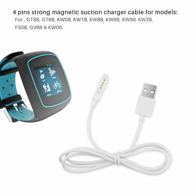 Magnetic Charger USB 2.0 Charging Cable Cord Power 4 Pin For Smart Watch KW88