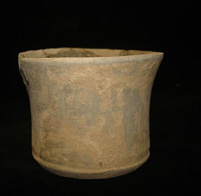 EXTREMELY ANCIENT CUP  EARLY BRONZE AGE 3000BC ancient ARTIFACT 3000BC
