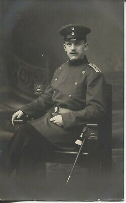 Real Photo Postcard RPPC 1915 WW1 German Soldier  in Studio