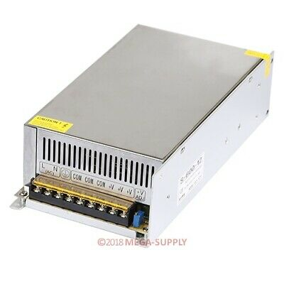 LED Lights Power Supply 12V50A AC-DC High-Power PSU 600W 110-220V