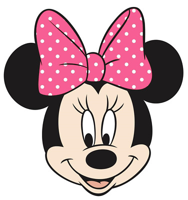 """Minnie Mouse Head Iron On Transfer 5""""x5"""" for LIGHT Colored Fabric"""
