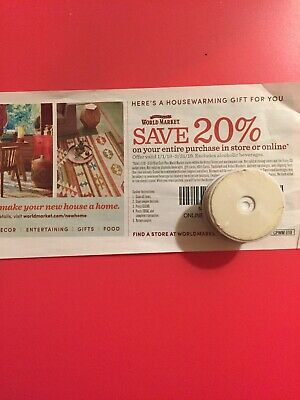 COST Plus World Market 20% OFF ENTIRE Purchase (Original 1Coupon)