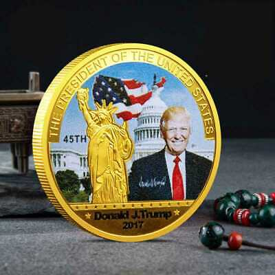 2017 Donald Trump 45th President US Commemorative Coin Make American Great Again